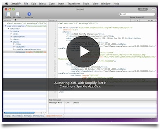 Screencast - Authoring XML in Xmplify.