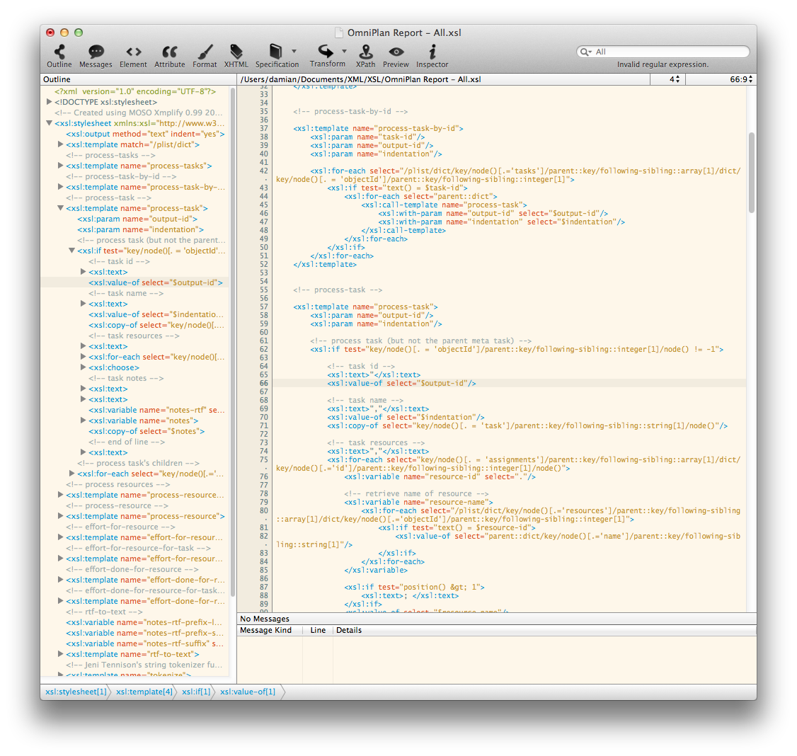 MOSO Releases Xmplify XML Editor for Mac OS X Version 1.8.0 Image